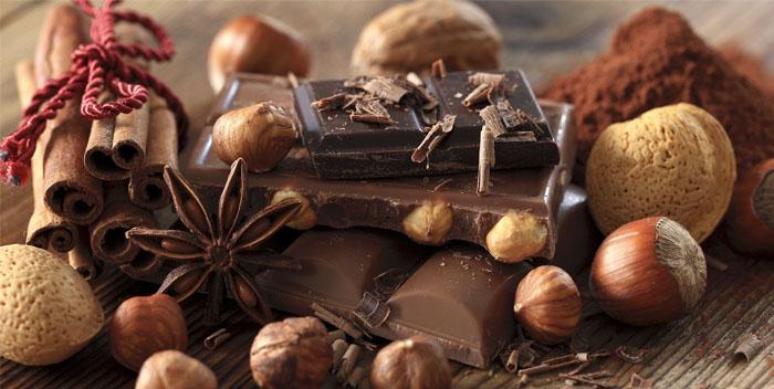 На этом фоне очень логично смотрится шоколадный букет