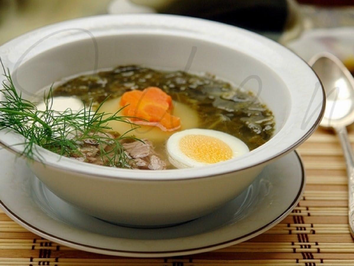 Рецепт приготовления щавелевый суп фрикаделька с калорийностью блюда и составлением списка