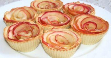 Тарталетки из карамелизированных яблок