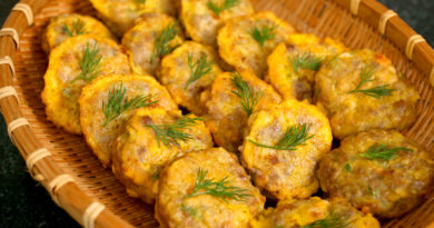 Корейские котлетки из мяса и тофу