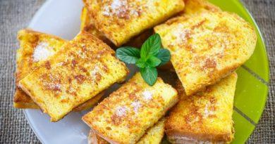 Молочные гренки на завтрак