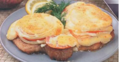 Для новогоднего стола: Мясо по-итальянски с сыром