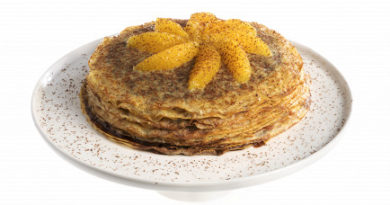 Французский блинный торт с Nutella и апельсиновой цедрой
