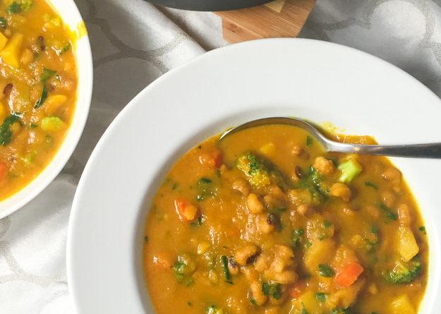 Гороховый суп с брокколи