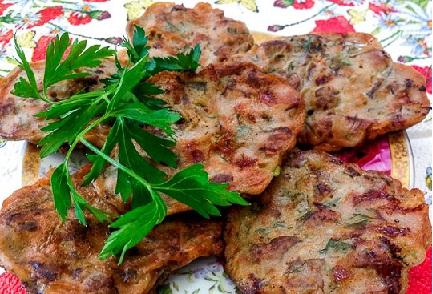Рубленые оладьи из говяжьей печени