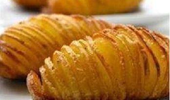 Веер из картофеля