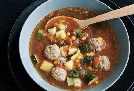 Мексиканский суп сфрикадельками