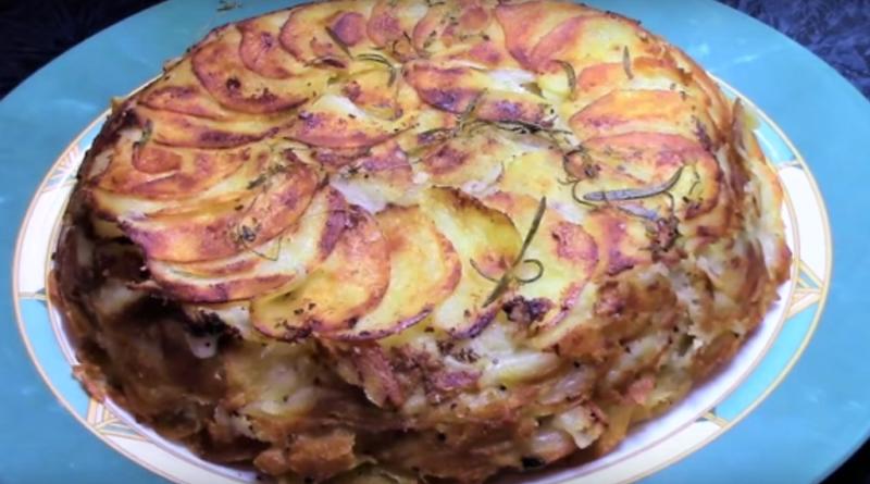 Запеченная сливочная картошка с сыром
