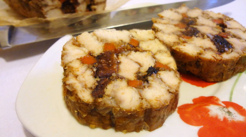 «Мраморный» РУЛЕТ из КУРИЦЫ на бутерброды.
