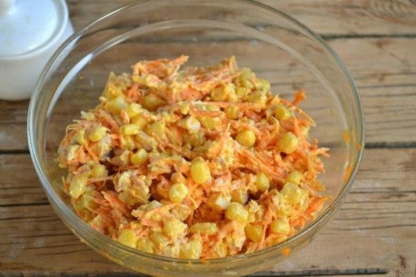 salat-s-kuricej-morkovyu-po-korejski-i-kukuruzoj