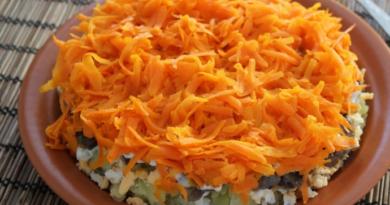 Салат «лисья шубка» с грибами и селедкой