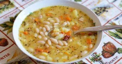 Божественный суп с фасолью
