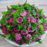 салат букет роз