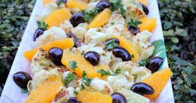 Салат из цветной капусты и апельсина