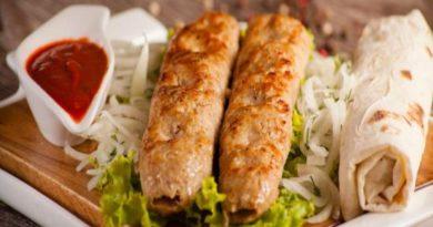 Люля-кебаб из курицы на мангале