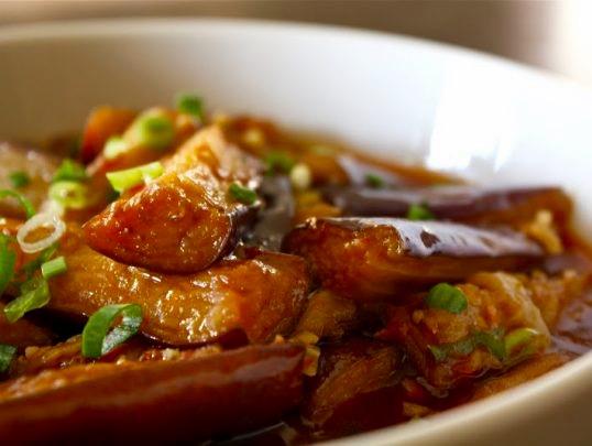 Жареные баклажаны по-сингапурски