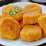 Морковно-рисовые котлеты