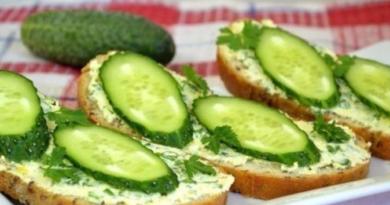 Бутерброды с сыром и огурцом (Необычный рецепт) - Закуска для праздничного стола