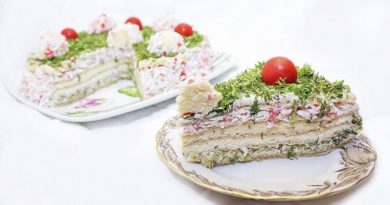Торт - салат с крабовыми палочками