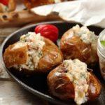 Картофель фаршированный вкусной начинкой