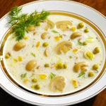 Сырный суп с грибами