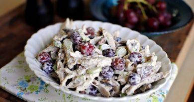 salat-s-kuricej-vinogradom-i-orexami