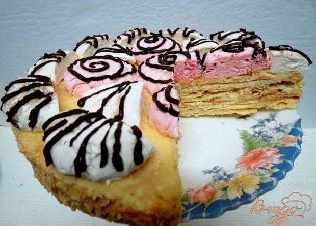 Торт с зефиром и кремом из сгущенки (Выпечка)
