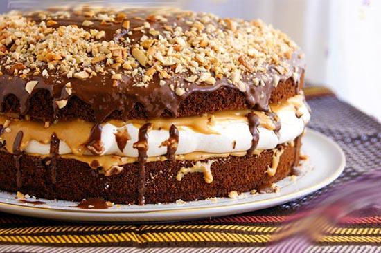 Торт «Сникерс». Самый лучший рецептик!