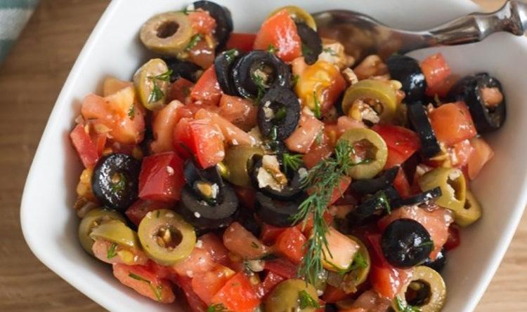 Бесподобный оливковый салат