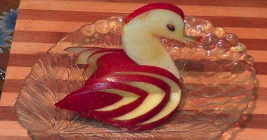 Фруктовая нарезка из яблока
