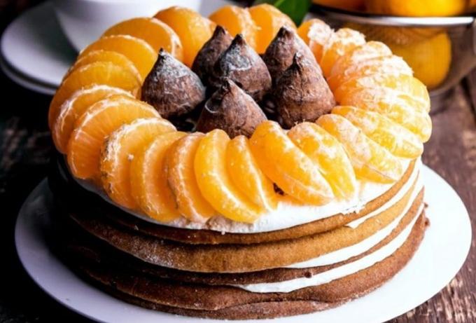 Image result for Новогодний рулет с мандаринами