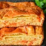 Минутный пирог с капустой – тает во рту