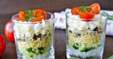 Слоеный салат в стакане