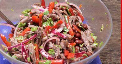 Оригинальный и безумно вкусный салат «Тбилиси»