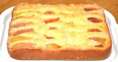 Фантастический пирог с фруктами за 10 минут