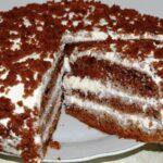 Торт на кефире: «Черный принц»