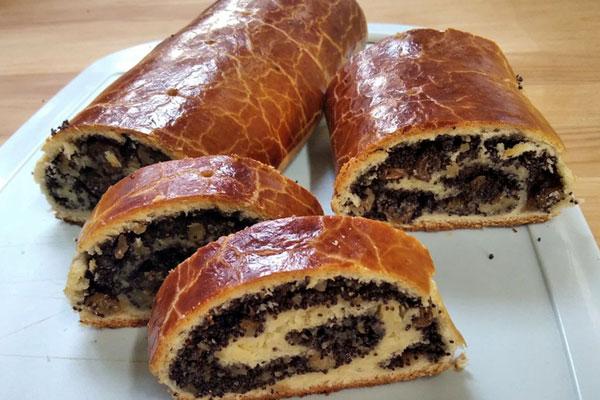 Маково-ореховый рулет Бейгли