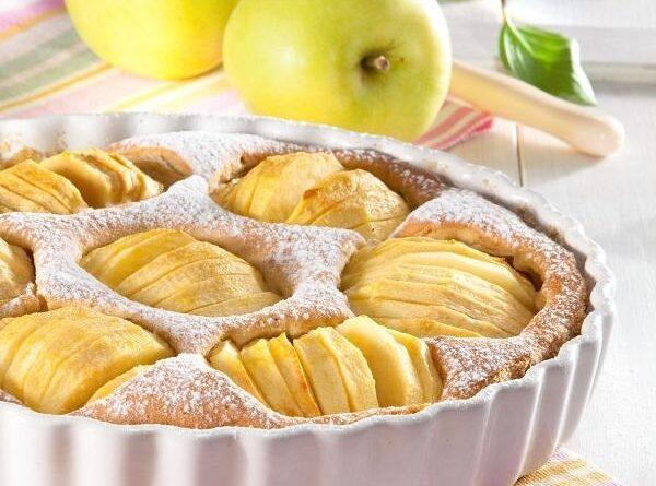 Пирог с яблоками и орехами.