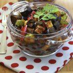 Баклажаны,кабачки и перцы в кисло-сладком соусе