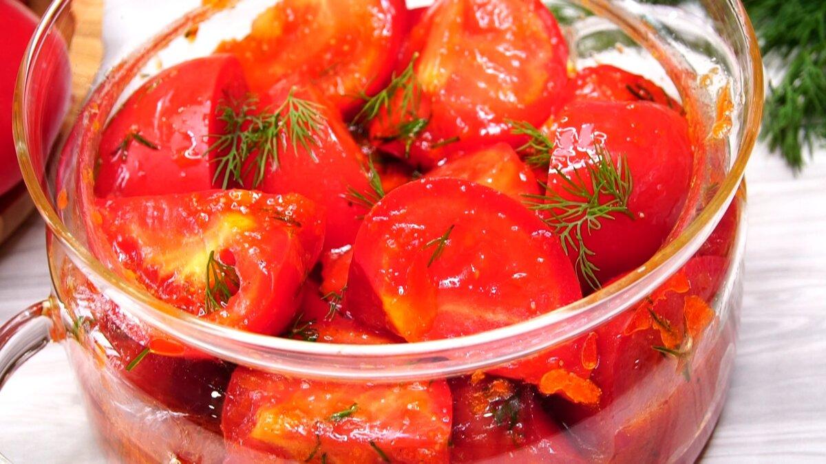 Как я готовлю теперь закуску из помидор, делюсь своим открытием.