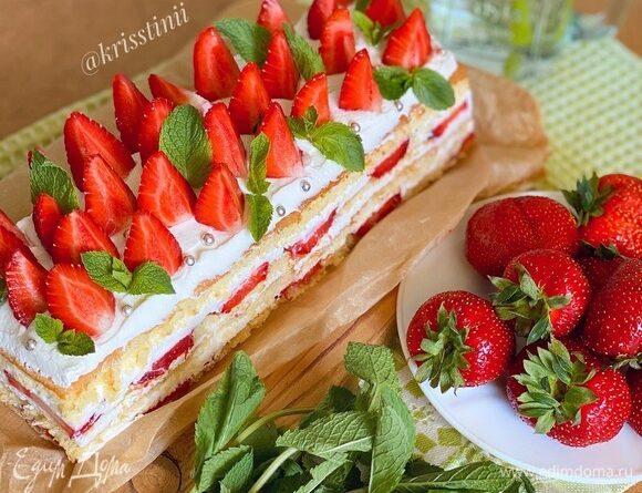 Летний клубничный торт