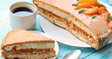 Торт Вриндаван с курагой и кремом