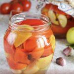 Болгарский перец с яблоками на зиму