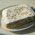 Быстрый тортик к чаю с творогом и черносливом (без выпекания), с насыщенным кофейным ароматом!