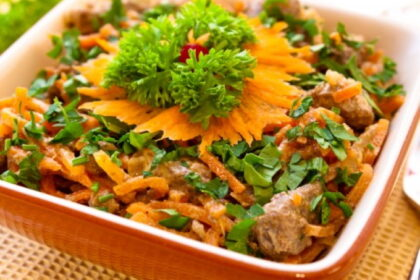 salat-s-korejskoj-morkovyu-i-pechenyu