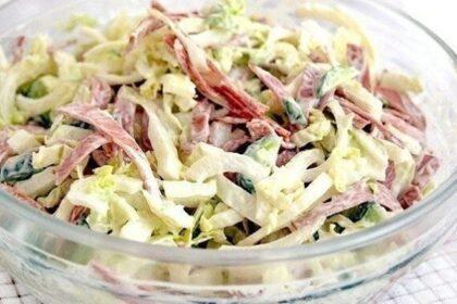 salat-s-kapustoj-i-kolbasoj