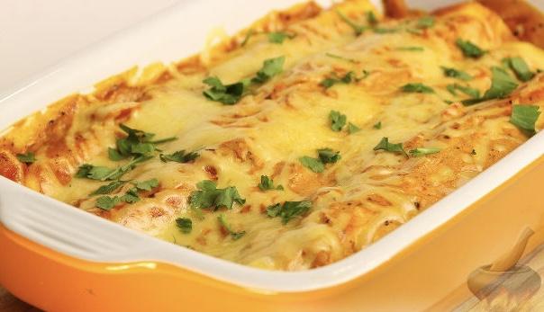 Энчилада с ветчиной, сыром и сладким перцем