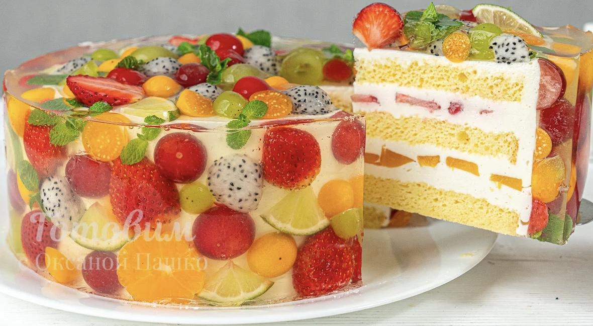 Это ВОСТОРГ! Необыкновенно красивый Торт с фруктами