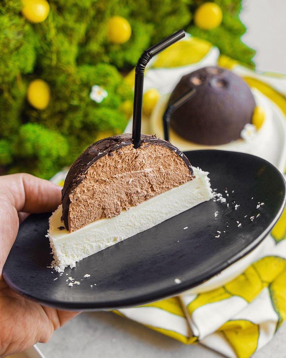 Тропический десерт с кокосом и шоколадом — «Баунти»