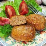 Мясные котлеты с овсяными хлопьями и соевым соусом